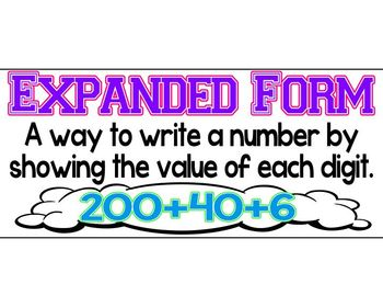 Place Value: Expanded Form Banner