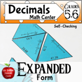 Place Value Expanded Form Decimals