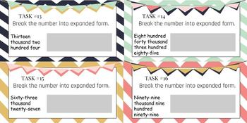 Place Value Expanded Form Digital Task Cards {Google Classroom}