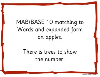 Place Value - Expanded Form, MAB, written number