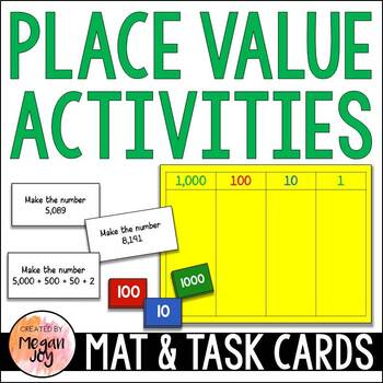 Place Value & Expanded Form Mats & Task Cards