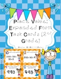 Place Value: Expanded Form Task Cards for 2nd Grade