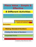 Place Value -Expanded Form, Value of Numbers, Decimals, Or