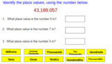 Place Value, Expanded Form and Comparing Google Slides Activity