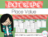 Place Value, Expanded Form, and Number Sense Exit Slips