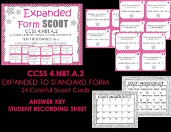 Place Value Expanded Form to Standard Form 10,000s Place  SCOOT CCSS 4.NBT.A.2
