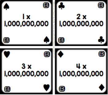 Place Value: Expanded Notation Playing Cards