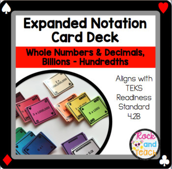 4.2B: Expanded Notation Playing Cards