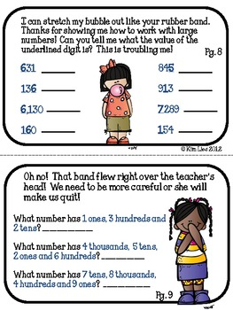 Instant Math Place Value Expanded Notation Rubber Band Booklet
