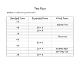 Place Value : Expanded Notation, Word Form, Standard Form
