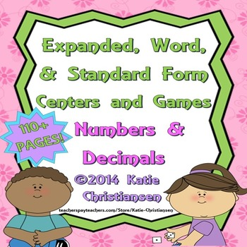 Place Value - Expanded, Standard, and Word Form for Number
