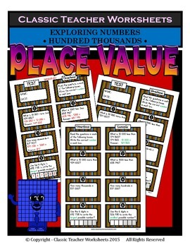 Place Value - Exploring Numbers - Hundred Thousands - Grades 5-6 (5th-6th Grade)