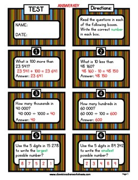 Place Value - Exploring Numbers - Ten Thousands - Grades 4-5 (4th-5th Grade)