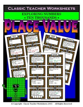 Place Value - Exploring Numbers - Ten Thousands - Grades 4