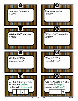 Place Value - Exploring Numbers - Thousands - Grades 3-4 (3rd-4th Grade)