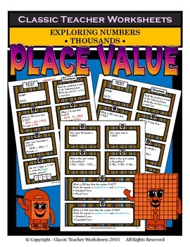 Place Value - Exploring Numbers - Thousands - Grades 3-4 (
