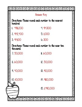 Place Value Extra Practice