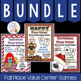 Fall Place Value Math Center Games Bundle