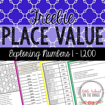 Place Value FREEBIE: Numbers to 1,200