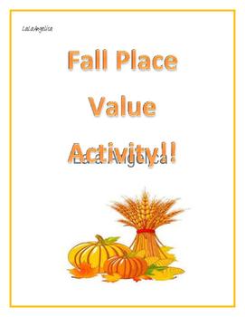 Place Value Fall Craft / Valor de Posiciones