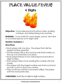 Place Value Fever Games!/ CCSS Aligned 4th–5th Grades