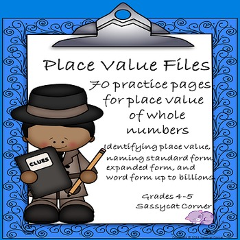 Place Value of Larger Whole Numbers Worksheet Practice Pack (The Math Files)
