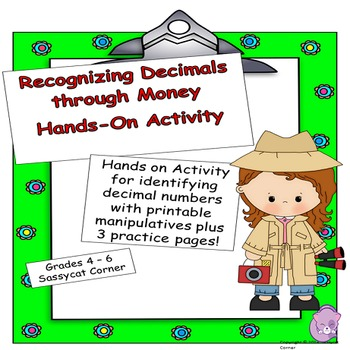 Place Value Files - Recognizing Decimals through Money Hands-On Activity