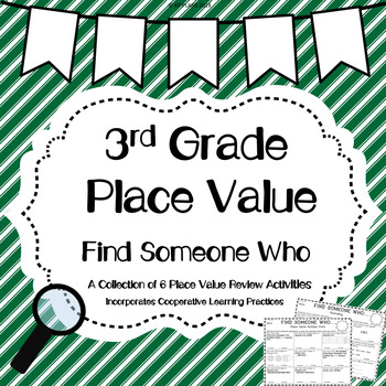 Place Value Find Someone Who Activity