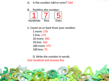 Place Value: Finding 1, 10, and 100 more or less than a given number