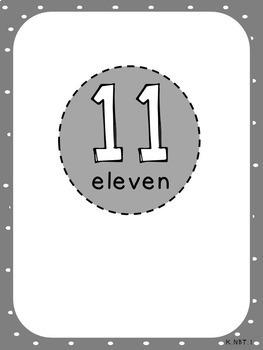 Place Value Fingers-Pack 3 (Kindergarten-K.NBT.1)