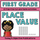 Place Value First Grade (Cut and Paste Practice)
