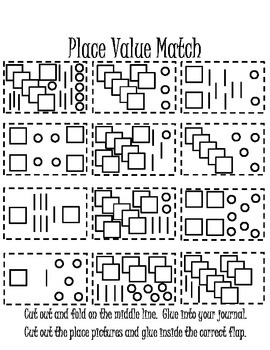 Place Value Flaps Interactive Notebook Page