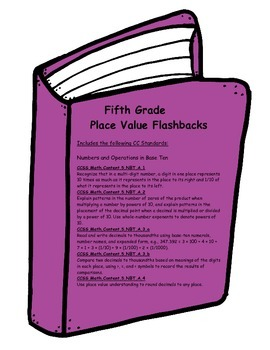 Place Value Flashbacks for Fifth Grade-Common Core Aligned