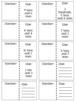 Place Value Flashcards and Interactive Notebook