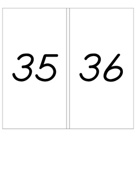 Place Value Flashcards to 99 with Base Ten Blocks
