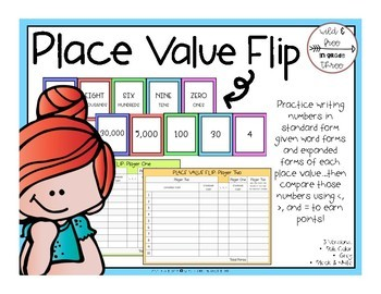 Place Value Flip: A Card Game for Place Values