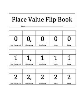 Place Value Flip Book