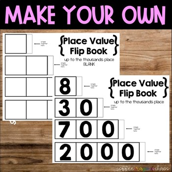 Place Value Flip Book {up to thousands place]