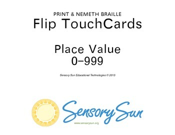 Place Value Flip Chart including Large Print & Braille Numbers