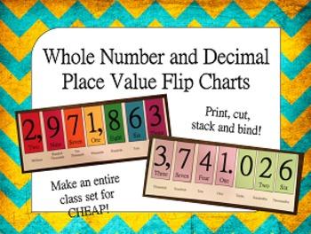 Place Value Flip Charts