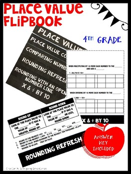 Place Value Flipbook- Math Journal or Review