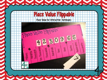 Place Value Flippable- Interactive Place Value (Millions through Thousandths)