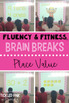 Place Value Fluency & Fitness Brain Breaks Bundle
