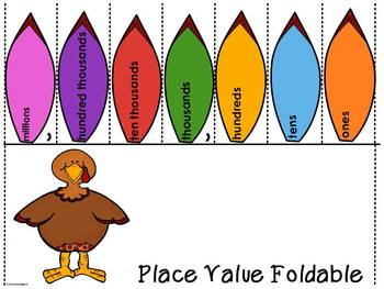 """Thanksgiving Activity """"Place Value"""""""