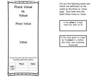 Place Value Foldable