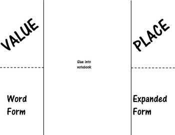 Place Value Foldable AND I have...Who has Challenge