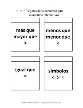 Place Value Foldables in Spanish