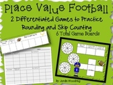 Place Value Football- Games for Rounding and Skip Counting
