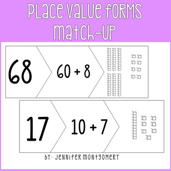 Place Value Forms Match-Up