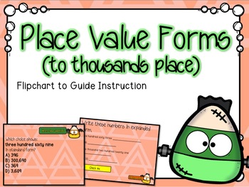 Place Value Forms (to thousands place) Flipchart